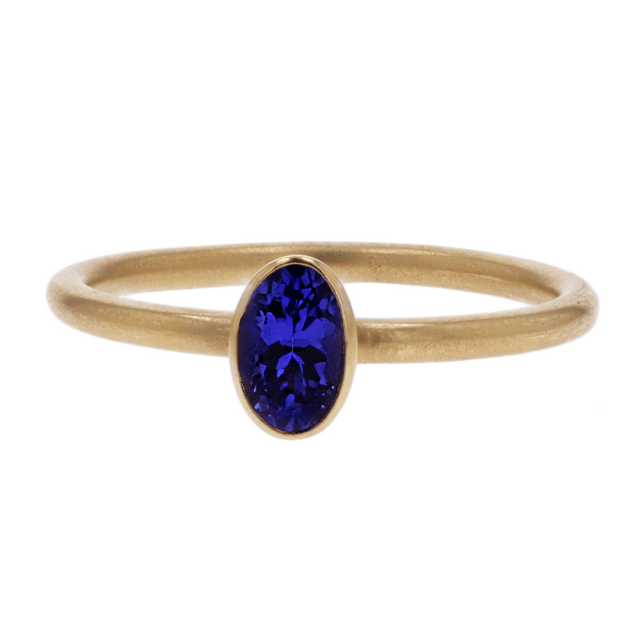 Kimberly Collins Oval Tanzanite Ring