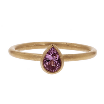 Kimberly Collins Pear Shaped Pink Spinel Ring