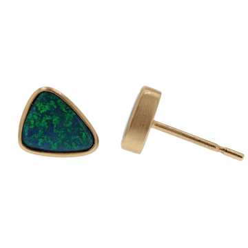 Kimberly Collins Triangular Opal Studs