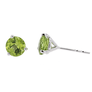 Kostbar Peridot Stud Earrings