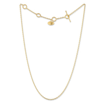 Lika Behar 1.75mm Gold Adjustable Rolo Chain Necklace