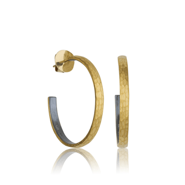 Lika Behar 24k Gold & Oxidized Sterling Silver Fusion Hoops