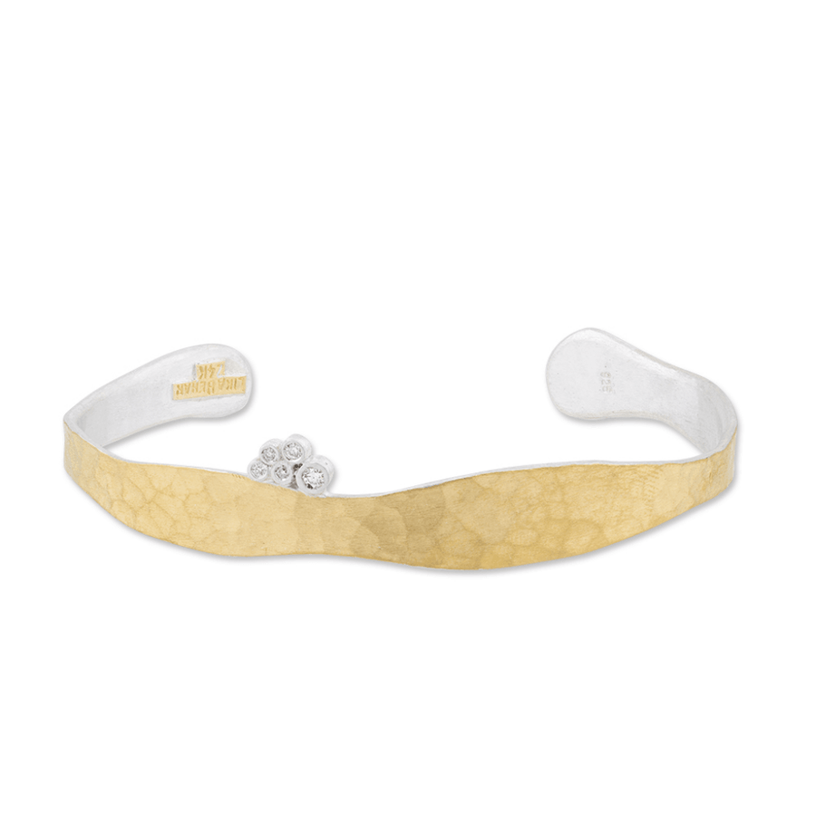 Lika Behar 24k Gold & Sterling Silver Diamond Stockton Cuff