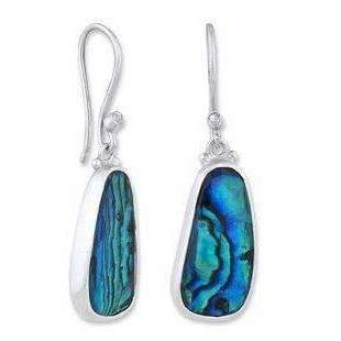 Lika Behar Abalone and Sapphire Dangle Earrings