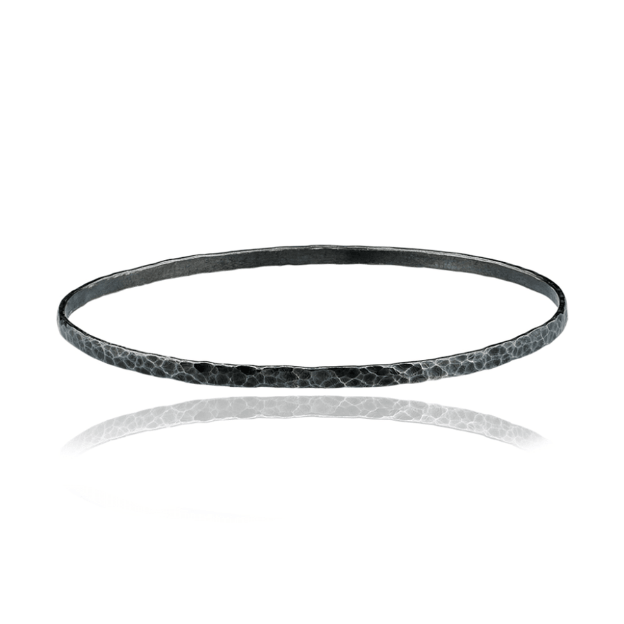 Lika Behar Fusion Hammered Sterling Silver Bangle