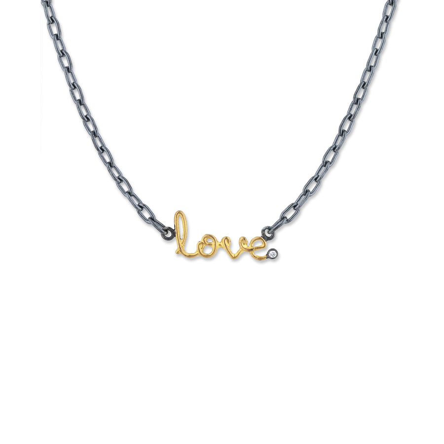 Lika Behar Love Necklace with White Sapphire