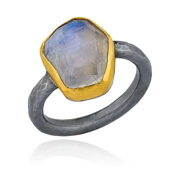 Lika Behar Rose Cut Moonstone Ring