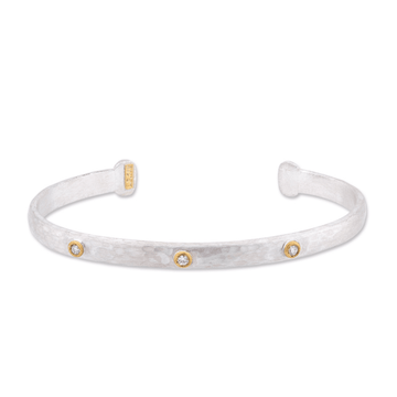 Lika Behar Sterling Silver & 24k Gold Diamond Cuff