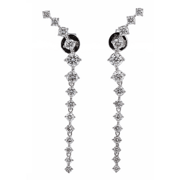 Luxeout Diamond Drop Earrings