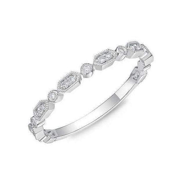 Memoire Diamond Band with Milgrain Edges