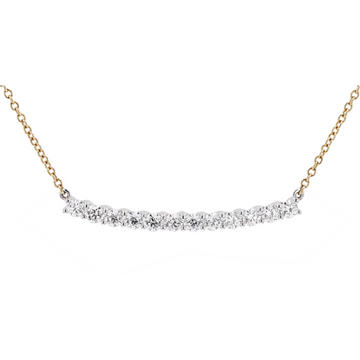 Memoire Diamond Bar Necklace