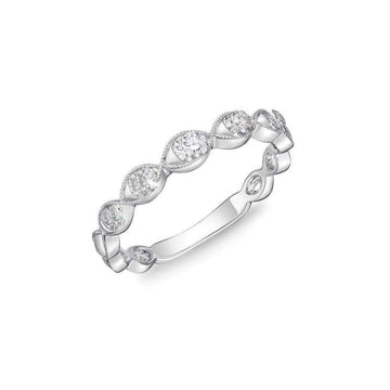 Memoire Milgrain Edge Diamond Band