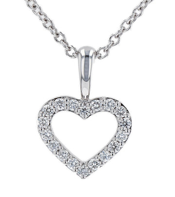 Memoire Open Heart Pendant Necklace