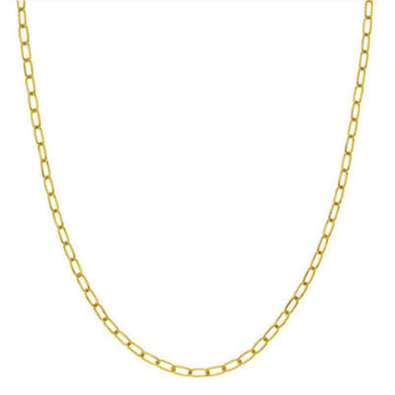 Midas 3.45MM Yellow Gold Paperclip Chain Necklace