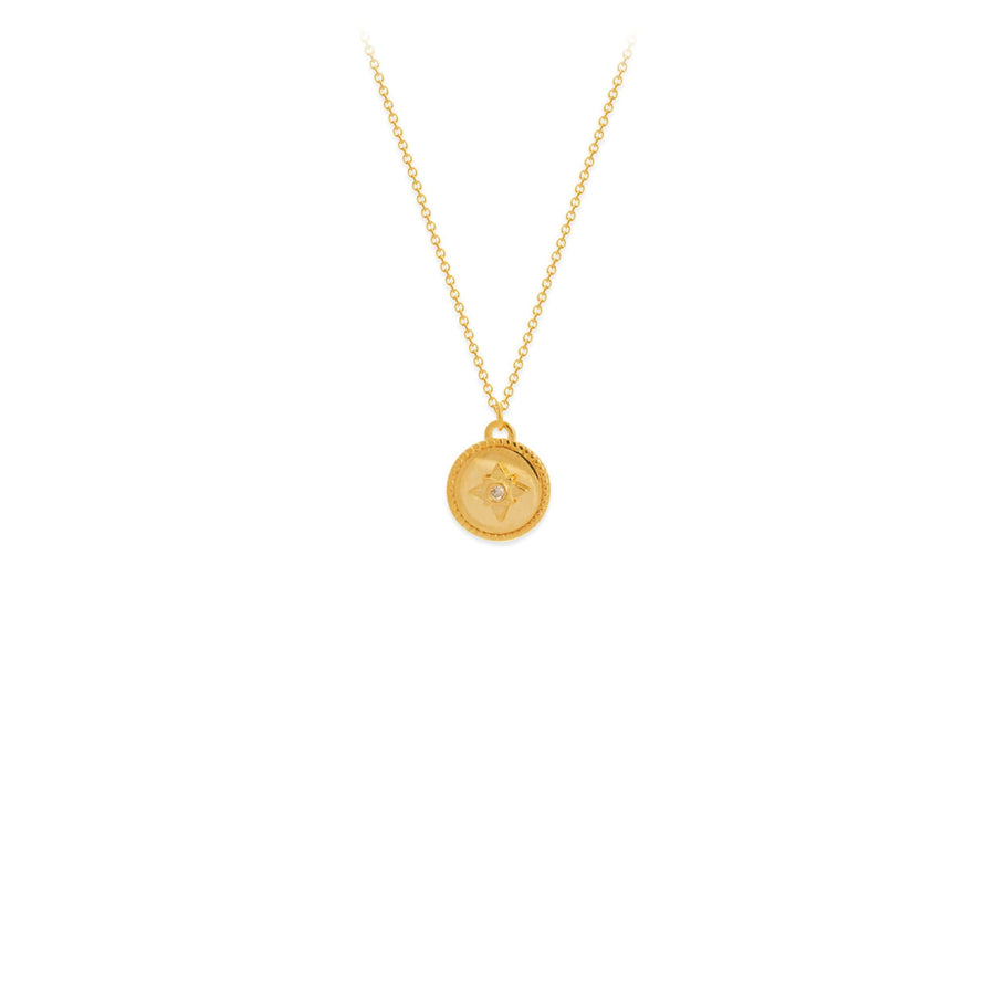 Midas Small Medallion Diamond Pendant