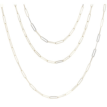 Midas Yellow Gold Paperclip Chain Necklace