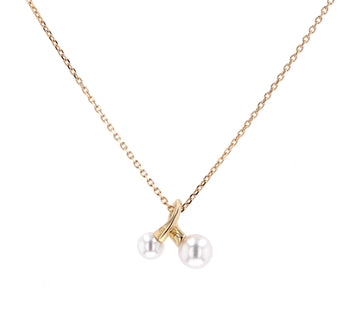 Mikimoto 18'' Gold & Pearl Pendant Necklace