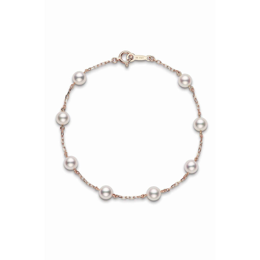Mikimoto Akoya Cultured Pearl Station Bracelet