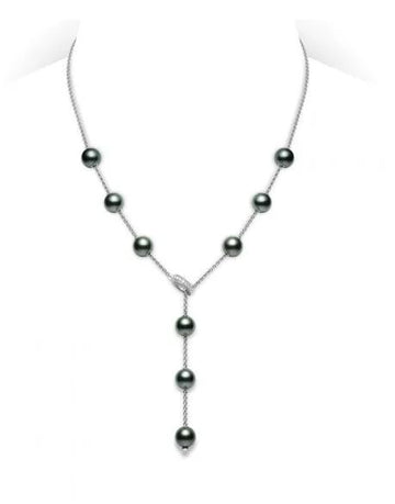 Mikimoto Pearl & Diamond Lariat Necklace