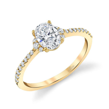 Parade Classic Oval and Side Diamond Engagement Ring