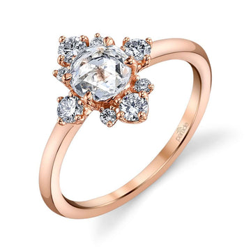 Parade Lumiere Rose Cut Cluster Halo Center Ring