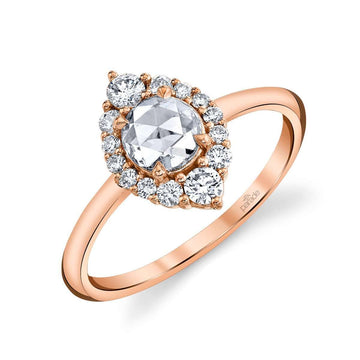Parade Lumiere Rose Cut Marquise Halo Center Ring