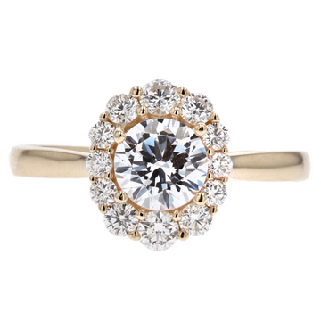 Parade Round Halo Diamond Engagement Ring