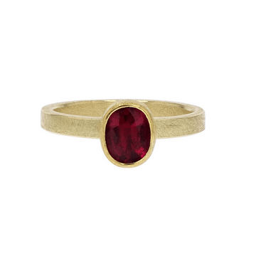 Petra Class Red Tourmaline Gold Ring
