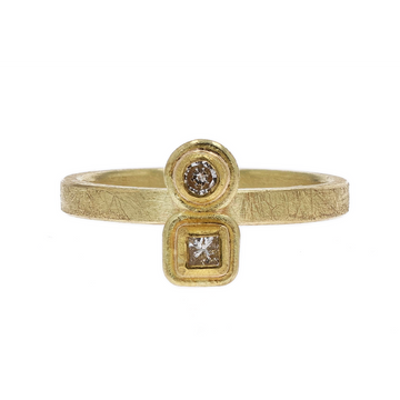 Petra Class Shaped Diamond Yellow Gold Ring