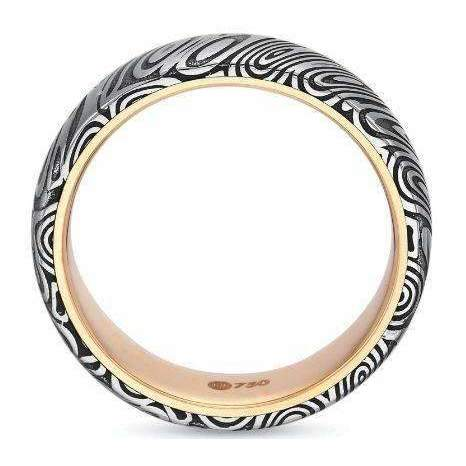 Precision Set Damascus Wedding Band