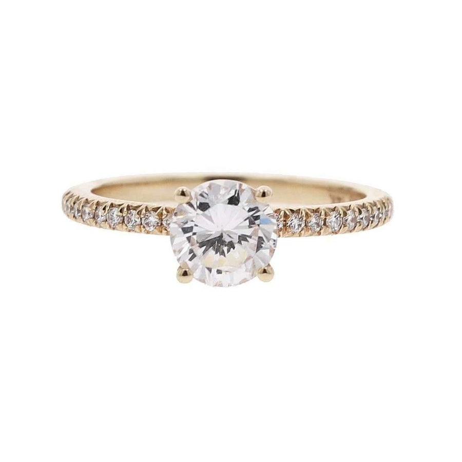 Precision Set Diamond Shoulders Engagement Ring