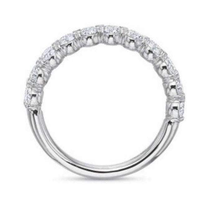 Precision Set FlushFit Silk Prong Diamond Half Band 0.57ct