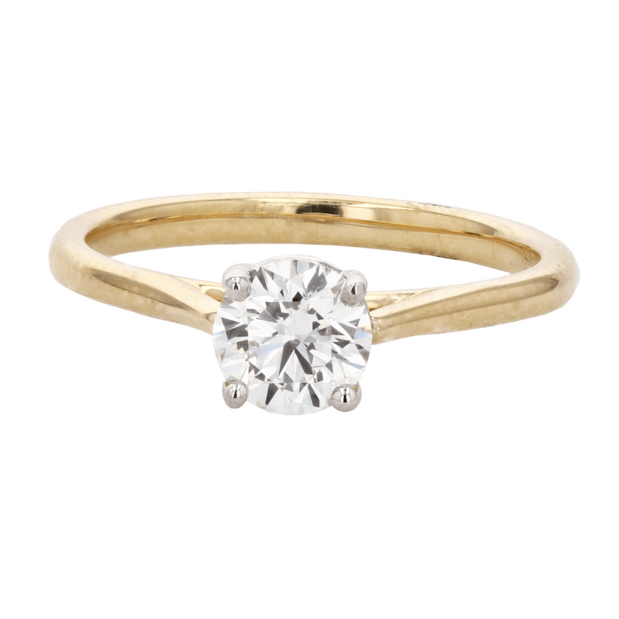 Precision Set New Air Solitaire Engagement Ring