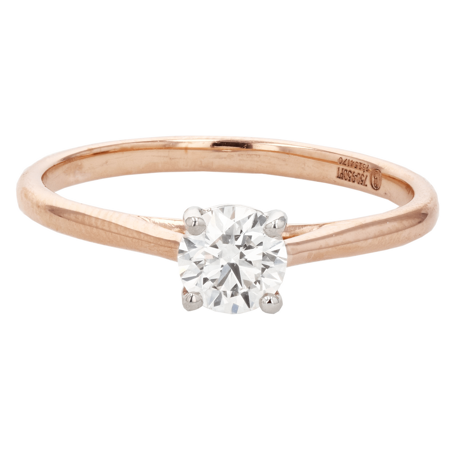 Precision Set New Aire Rose Gold Solitaire Engagement Ring