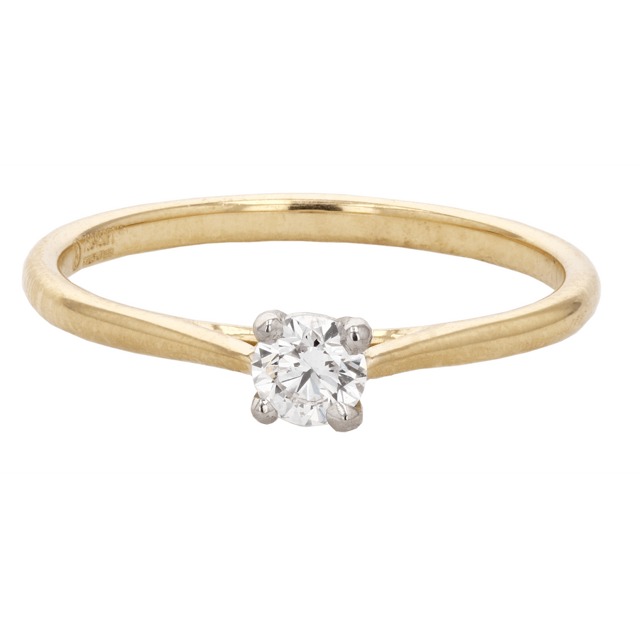 Precision Set New Aire Round Solitaire Engagement Ring