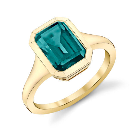 Stanton Color Emerald Cut London Blue Topaz Ring