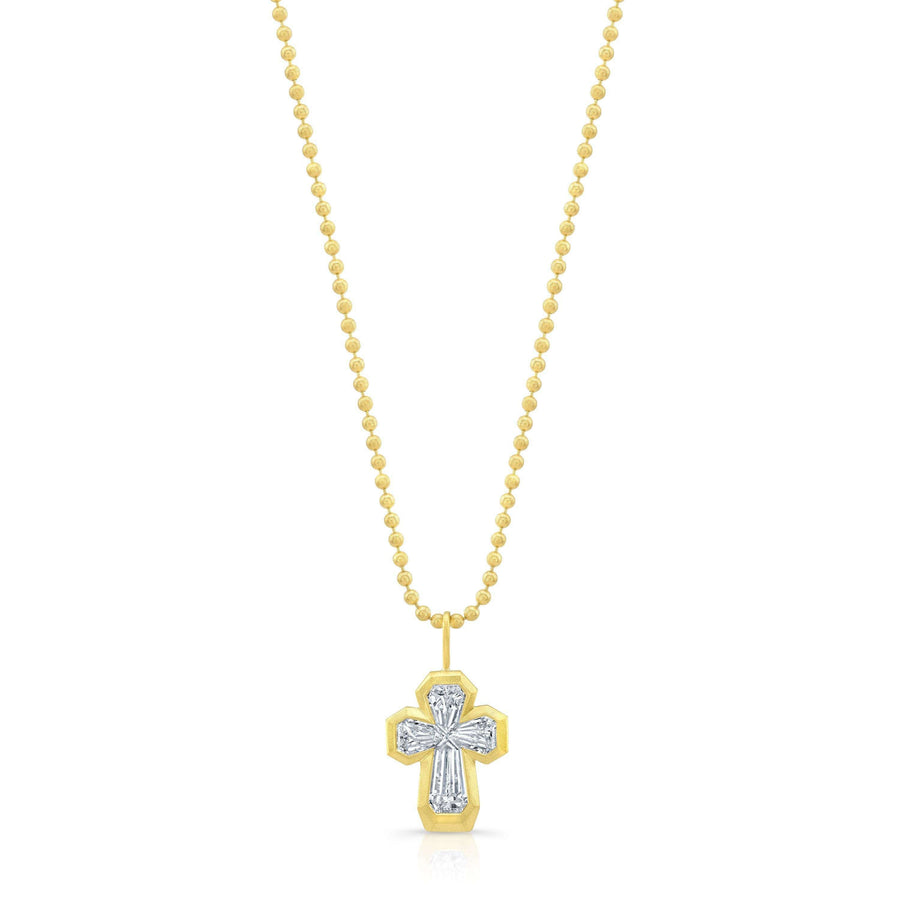 Rahaminov Bezel Diamond Cross Pendant