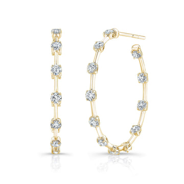 Rahaminov Diamond Bar Hoop Earrings