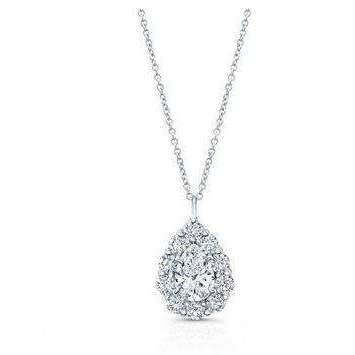Rahaminov Diamonds Pear Shape Cluster Necklace