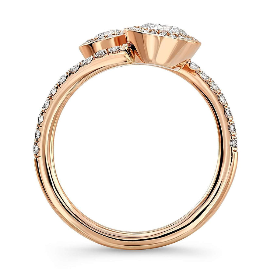 Rahaminov Halo Forevermark Diamond Bypass Ring