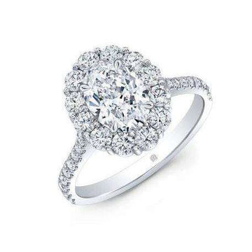Rahaminov Oval Diamond Cluster ring