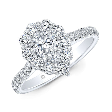 Rahaminov Pear Shape Diamond Cluster ring