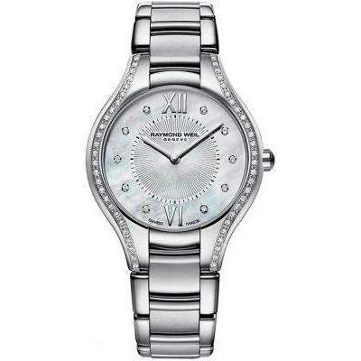 Raymond Weil Noemia Stainless Mother of Pearl Dial with Diamond Sides Watch