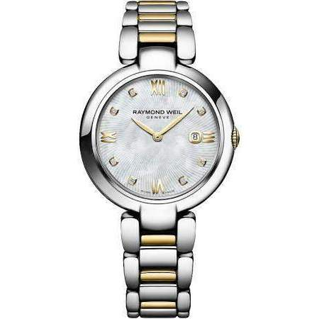 Raymond Weil Shine Two Tone Mother of Pearl Dial Watch