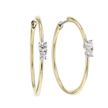 Roberto Coin Diamond Accent Hoops