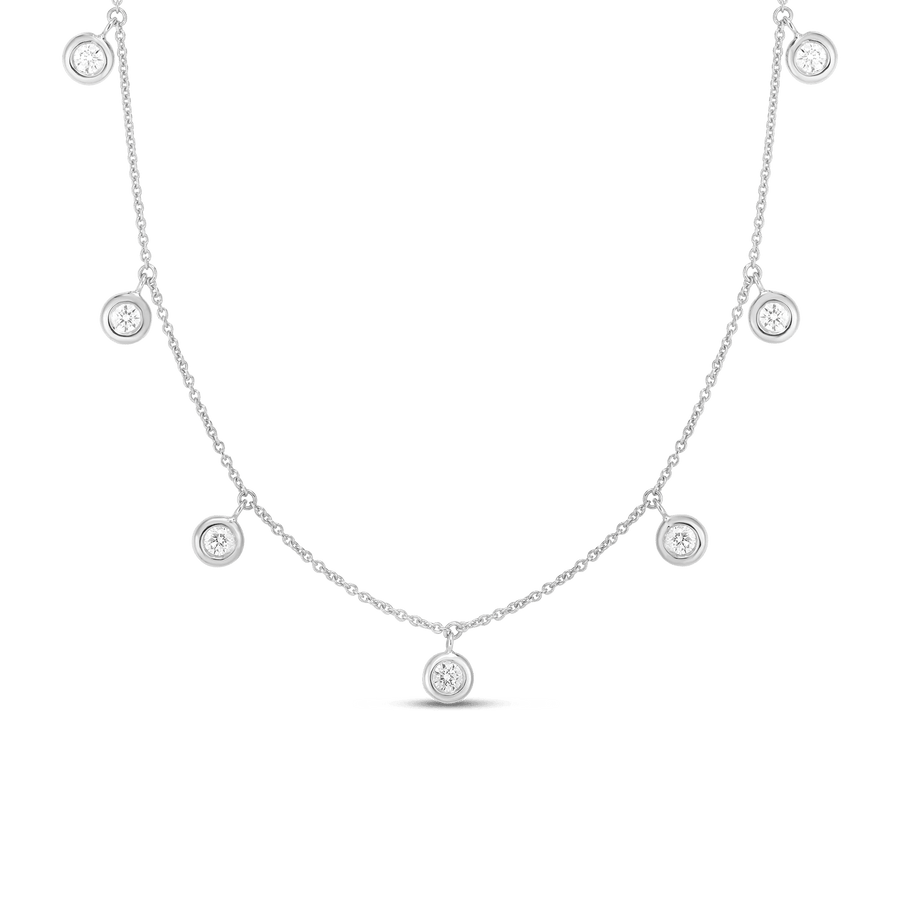 Roberto Coin Diamond Dangle Station Necklace