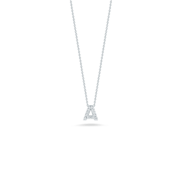 Roberto Coin Diamond Initial Pendant - Tiny Treasures Collection