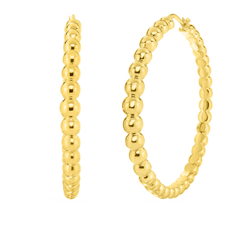 Roberto Coin Large Beaded Hoops