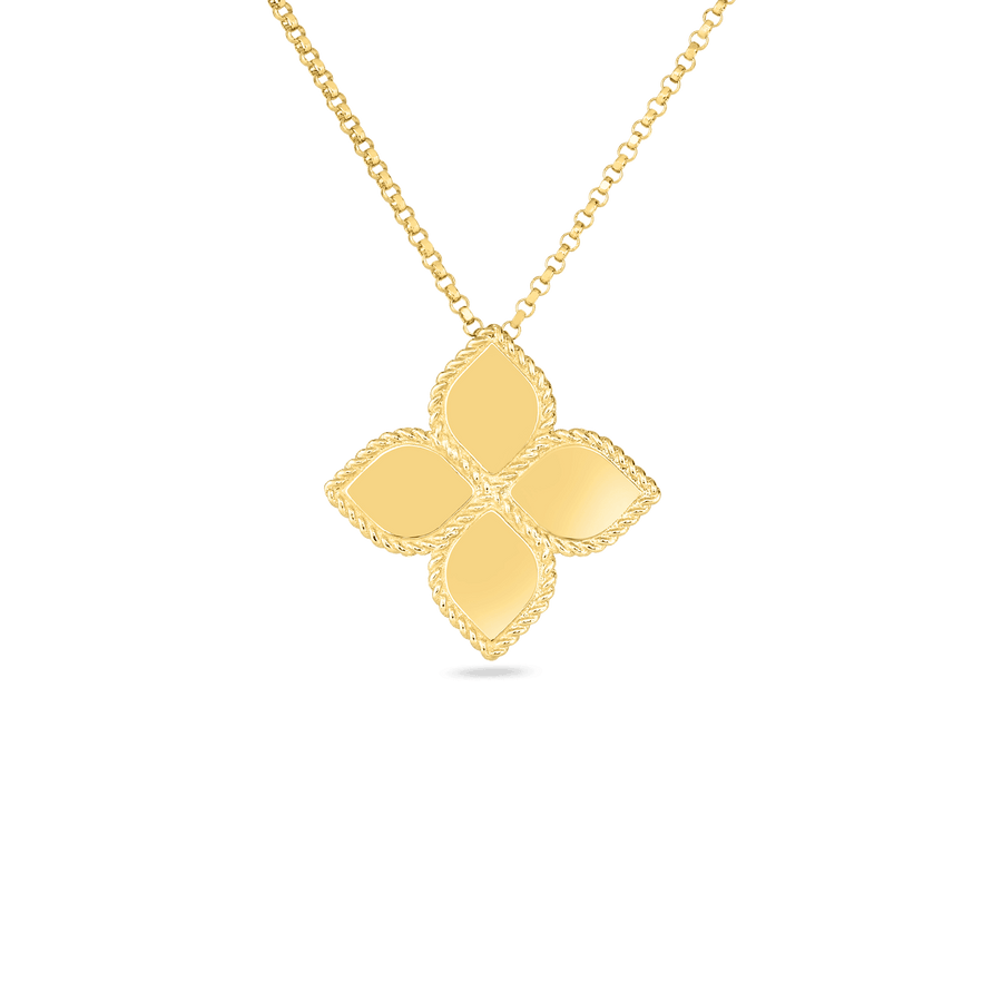 Roberto Coin Large Flower Pendant - Princess Collection