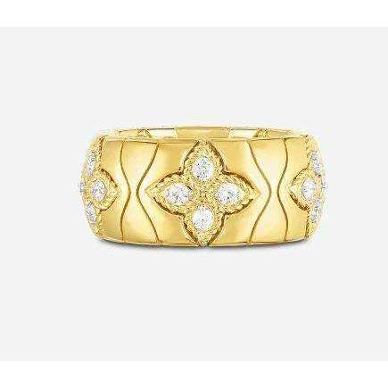 Roberto Coin Princess Flower Band with Diamonds